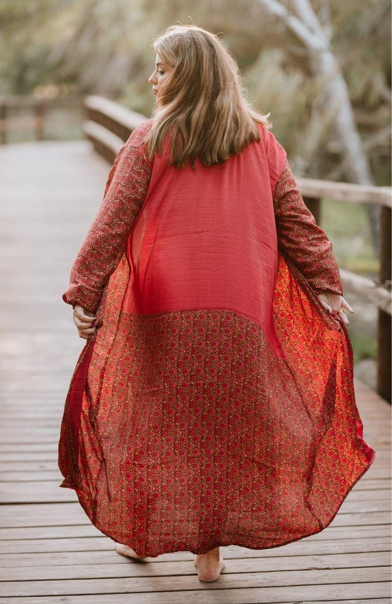 Balloon Sleeve Kimono